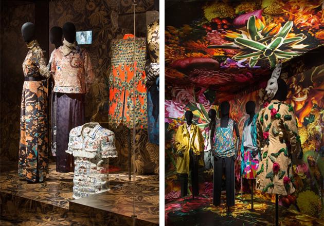 Exhibition view of 'Dries van Noten: Inspirations', 2014, at Musée des Arts Décoratifs, Paris. Courtesy: Dries Van Noten and Musée des Arts Décoratifs, Paris; photograph: Luc Boegly
