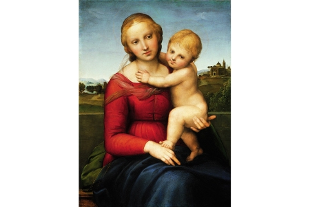 Raphael, Small Cowper Madonna, 1505. 60 cm x 44 cm.