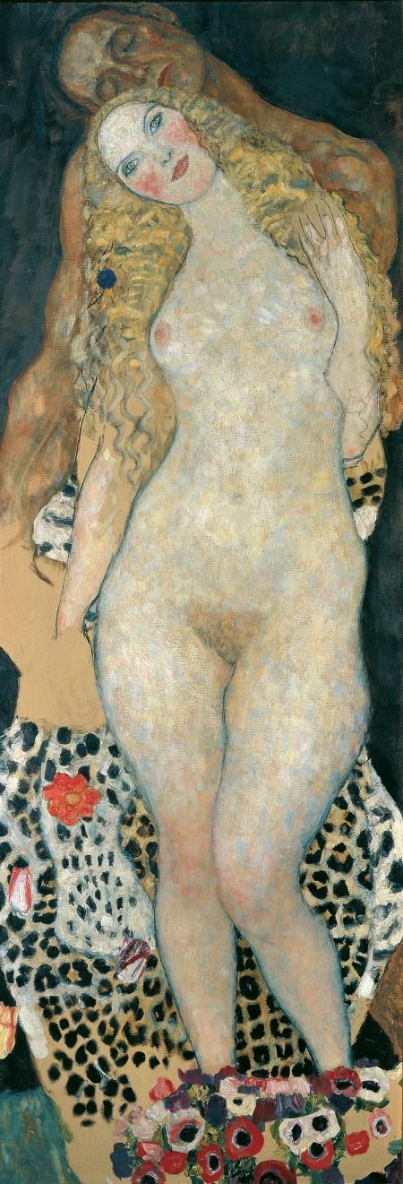 Adam and Eve, Gustav Klimt (Austrian, 1862–1918), 1917-1918, Oil on canvas *Belvedere, Vienna * © Belvedere, Vienna *Courtesy Museum of Fine Arts, Boston