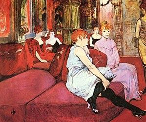 B-1. 300px-Au_Salon_de_la_rue_des_Moulins_-_Henri_de_Toulouse-Lautrec
